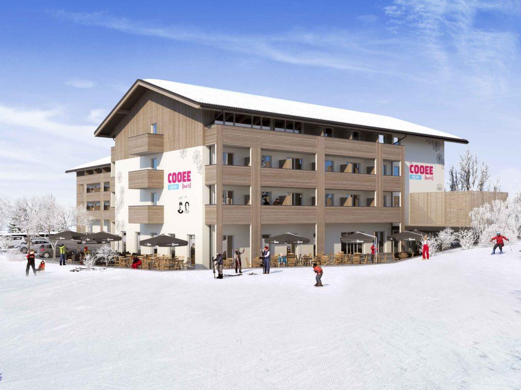 visualisierung hotelansicht von der skipiste cooee alpin hotel bad kleinkirchheim 1 1024x768 - Neues COOEE alpin Hotel in Bad Kleinkirchheim