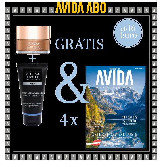 avida goodie 140421A - AVIDA ABO / 4 Ausgaben im Jahr / Promotion asambeauty / Medical Beauty