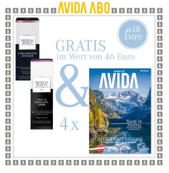 avida goodie 310321 - AVIDA ABO / 4 Ausgaben im Jahr / Promotion Medical Beauty