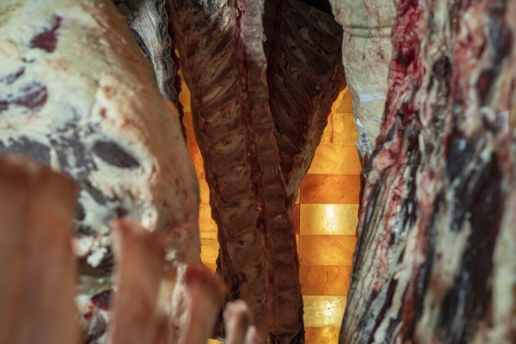 dry aged beef variationen   reifeprozess mit himalaya salzsteinen im premium meat ager c tine steinthaler goritschniggs 1024x683 - Genussherbst im Boutiquehotel am Wörthersee